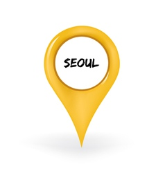 Location seoul vector