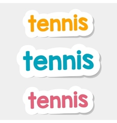 Logo tennis on a light background vector
