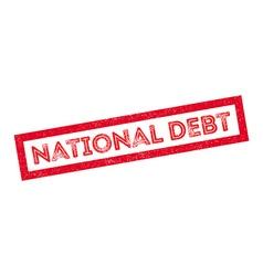 National debt rubber stamp vector