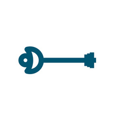 old key isolated ancient door clef on white vector image vector image