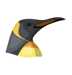 Penguin icon in cartoon style isolated on white vector