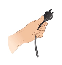 Plug In The Hand vector image vector image