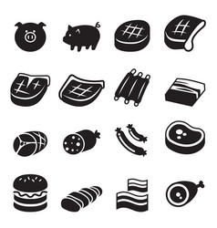 Pork icon vector