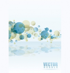 rainbow subtle bubble vector image vector image
