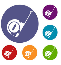 roulette construction icons set vector image vector image