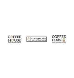set of coffee vintage logo and badge label vector image vector image