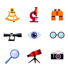 set of optic icons vector image
