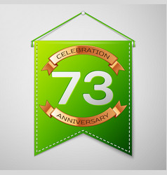 Seventy three years anniversary celebration design vector