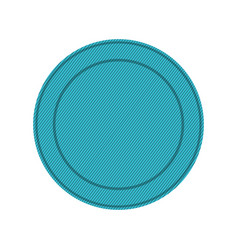 Silhouette with blue circular frame vector