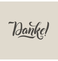 Thank you german language grey lettering on vector