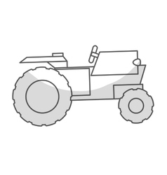 Tractor vehicle icon vector