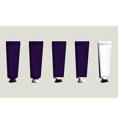 Tubes for packaging violet set vector
