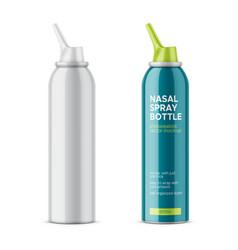 white glossy nasal spray bottle vector image vector image