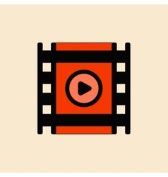 Movie frame in flat style film vector