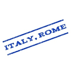 Italy rome watermark stamp vector