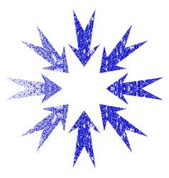 pressure arrows grunge textured icon vector image
