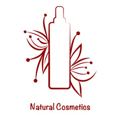Red bottle template for cosmetic logo vector