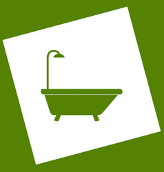 Bathtub sign  white icon obtained as a vector