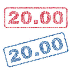 2000 textile stamps vector image vector image