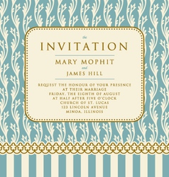 Invitation with rich background Renaissance vector image