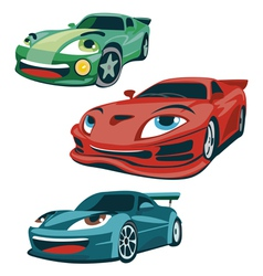 Race cars characters vector image