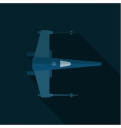 Space shuttle military aircraft flat art vector