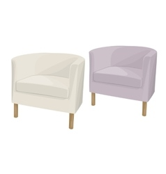 Armchairs domestic soft vector
