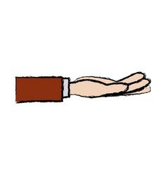 Business hand people receiving gesture vector