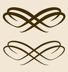 Calligraphic bow design element vector