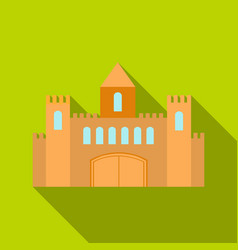 Castle icon flate single building icon from the vector