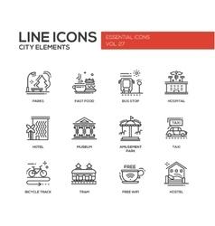 City elements - line design icons set vector image vector image