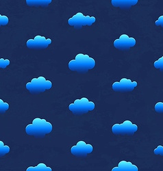 Clouds in the night sky Seamless pattern vector image vector image