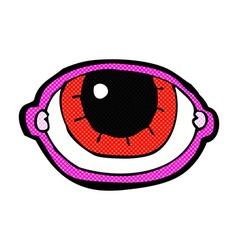 Comic cartoon staring eye vector