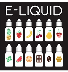 E Liquid of different flavor vector image