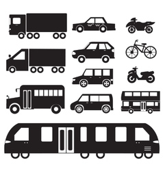 Flat cars concept set icon pictogram design Tampla vector image vector image