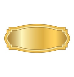 Gold frame Beautiful simple golden design white vector image vector image
