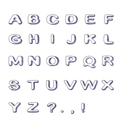Hand Drawn Font Doodle Alphabet Childish ABC vector image