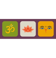 India flat vector image vector image