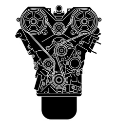 Internal combustion engine as seen from in front vector image vector image