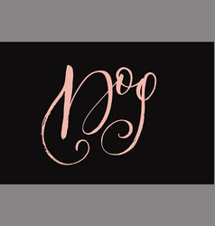 letterings card handdrawn positive unique vector image vector image