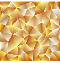 light yellow polygonal background vector image vector image