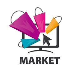 Logo purchases of goods over the internet vector