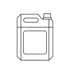 Metal gasoline canister icon outline style vector