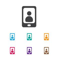 Of bureau symbol on phone icon vector