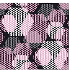 pastel rosy color modern geometry hexagon tulle vector image