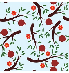 Pomegranate background vector