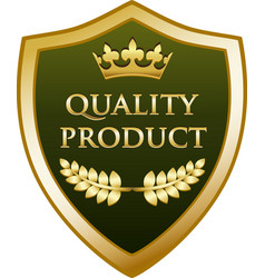 quality product gold shield vector image