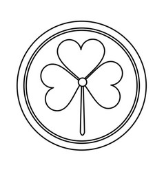 St patricks day shamrock icon thin line vector