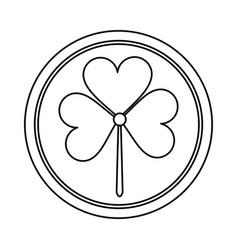 St patricks day shamrock icon thin line vector