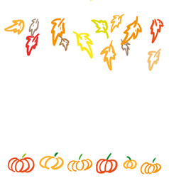 thanksgiving ink background vector image vector image